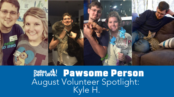 DPA's Pawsome People: August 2019 Volunteer Spotlight