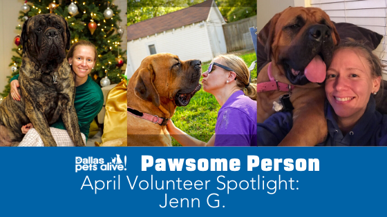 DPA's Pawsome People: April 2020 Volunteer Spotlight