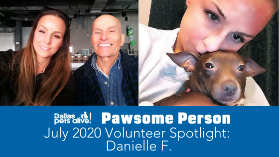DPA's Pawsome People: July 2020 Volunteer Spotlight