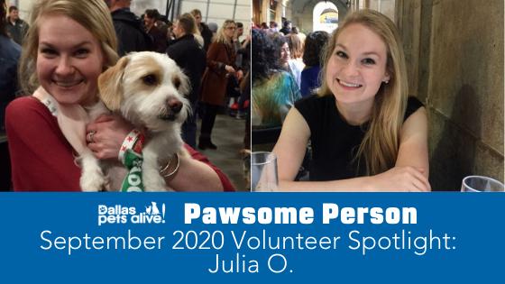 DPA's Pawsome People: September 2020 Volunteer Spotlight