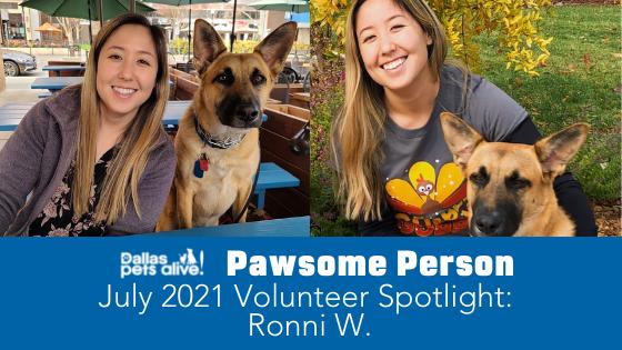 DPA's Pawsome People: July 2021 Volunteer Spotlight